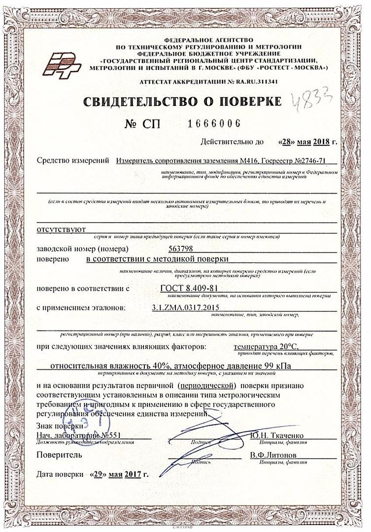 Настоящее испытание электрооборудования и электроустановок от 30 часов с кэшбэком 20% в Москве и МО